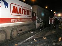 Ночью на трассе М2 в Заокском районе столкнулись 6 автомобилей, Фото: 2