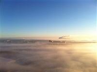 Необычные клубы дыма над заводом. Косая Гора, 21 января 2014, Фото: 3