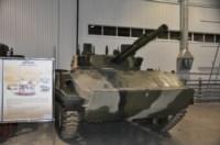 БМД-4 с боевым модулем «Бахча». На модули устанавливается 100-мм орудие (пусковая установка 2А70), 30-мм автоматическая пушка 2А42, 7,62-мм пулемет ПКТМ и унифицированная система управления огнем, Фото: 4