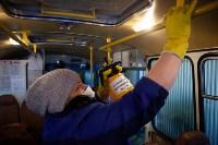 Как в Туле дезинфицируют маршрутки и автобусы, Фото: 26