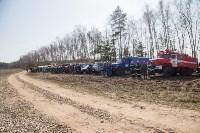 В Белевском районе провели учения по тушению лесных пожаров, Фото: 5