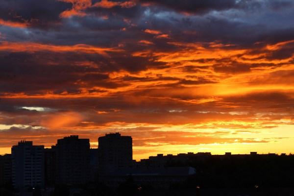 Закат над ул.Вильямса (3 июля 2019)