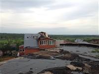 Ураган в Ефремове: шифер и стекла летали как пули, Фото: 11