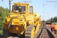 В Тульской области грузовой поезд сошел с рельсов, Фото: 43