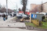 ДТП на пр. Ленина: BMW снес остановку, Фото: 9
