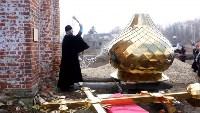 Храм в селе Ефремовского района обрел купол и крест, Фото: 14
