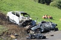 В жутком ДТП на М2 под Тулой сгорели три авто: двое погибли, Фото: 13
