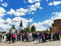 Жуткое ДТП в Суворове: проститься с погибшим полицейским пришли сотни человек, Фото: 15