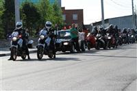 Тульские байкеры и сотрудники ГИБДД навестили детей из обидимской школы-интерната, Фото: 1
