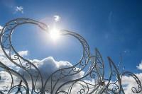 Кованая композиция «Лебеди» у ротонды, Фото: 5