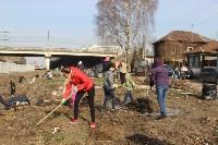 Генеральную уборку в Туле на Пролетарской набережной провели работники КБП, Фото: 16