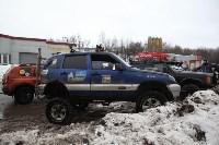 В Туле опрокинувшийся в кювет BMW вытаскивали три джипа, Фото: 19