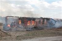 На Калужском шоссе загорелся жилой дом, Фото: 23