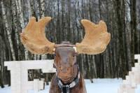 Деревянному лосю восстановили рога, Фото: 1