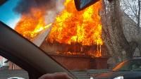 На Одоевском шоссе сгорел дом, Фото: 4
