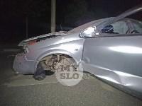 Крупное ДТП на ул. Металлургов в Туле: Nissan снес столб, пассажирку вышвырнуло из машины, Фото: 5
