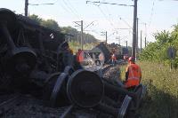 В Тульской области грузовой поезд сошел с рельсов, Фото: 45