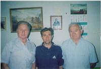 С олимпискими чемпионами. Слева на право А.Парамонов. Н. Шалунов, Н. Симонян , Фото: 2
