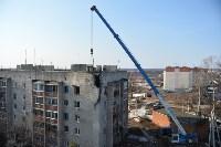 У дома, поврежденного взрывом в Ясногорске, демонтировали опасный угол стены, Фото: 42