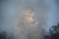 В ЦПКиО сожгли чучело зимы, Фото: 27
