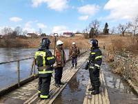 Паводок отступает: транспортное сообщение по мостам в Одоевском и Суворовском районах восстановлено, Фото: 1