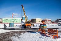 Огромный снеговик на Казанской набережной, Фото: 5
