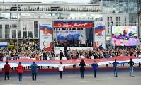 Развод караулов Президентского полка на площади Ленина. День России-2016, Фото: 27