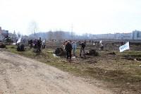 Генеральную уборку в Туле на Пролетарской набережной провели работники КБП, Фото: 33