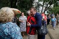 В Щёкино Алексей Дюмин поручил отремонтировать  подъезд дома на Ясенковском проезде, Фото: 11