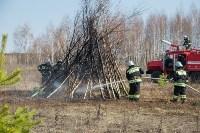 В Белевском районе провели учения по тушению лесных пожаров, Фото: 6