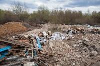 В Туле на берегу Тулицы обнаружен незаконный мусорный полигон, Фото: 24