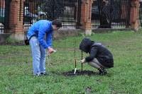 В сквере «Тульское чаепитие» высадили 100 саженцев вишни, Фото: 2