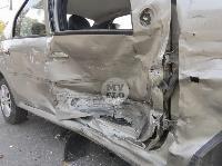 В Туле на ул. Оборонной Renault Logan после ДТП опрокинулся набок, Фото: 18