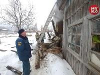 Пожар в пос. Петровский 20.02.19, Фото: 15