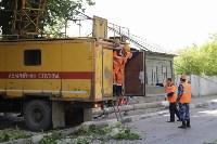 Упало дерево на провода на ул. Оборонной, Фото: 6
