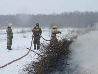 Тульские огнеборцы ликвидировали условное  возгорание в селе Прудное, Фото: 16