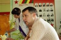 Денис Бычков проверяет школы Тульской области, Фото: 24