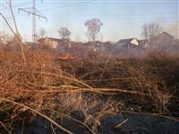 Возгорание сухой травы на ул.Комбайновая, Фото: 2