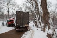 В Туле возле Платоновского парка застряла фура, Фото: 5