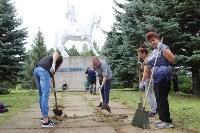 «Экопатруль» в Одоеве навел порядок у памятника конникам генерала Белова, Фото: 6