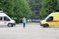 Учения МЧС: В Тульской областной больнице из-за пожара эвакуировали больных и персонал, Фото: 17