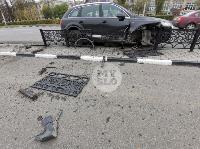 Туляк отвлекся во время движения и насадил Audi Q7 на забор, Фото: 6
