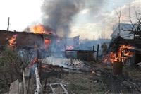 На Калужском шоссе загорелся жилой дом, Фото: 14