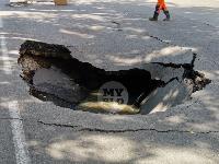 Провал на ул. Революции в Туле, Фото: 5