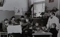 Занятия педагога с детьми в педиатрическом отделении, 1958 г., Фото: 10