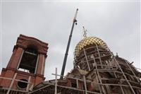 Освящение креста купола Свято-Казанского храма, Фото: 28