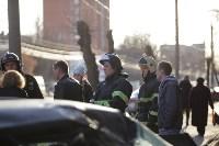На улице Металлургов Renault Megane после ДТП вылетел на тротуар, Фото: 3