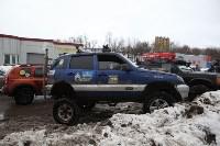 В Туле опрокинувшийся в кювет BMW вытаскивали три джипа, Фото: 27