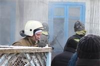 Пожар в жилом бараке, Щекино. 23 января 2014, Фото: 25