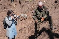Останки бойцов в деревне Криволучье, Фото: 8